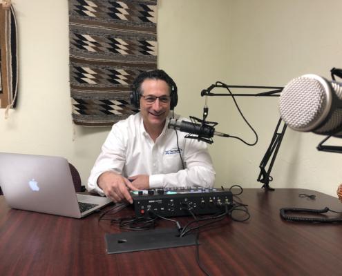 Aaron Zolbrod in Podcast Studio
